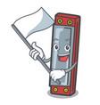 with flag harmonica mascot cartoon style vector image