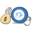 with money bag syscoin character cartoon style vector image