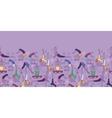 Yoga poses horizontal seamless pattern background vector image