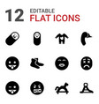 12 cute icons vector image vector image