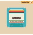 163tape cassette app vector image vector image