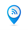 3d pointer with wifi icon vector image