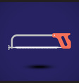 a cutting saw icon vector image vector image