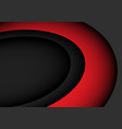 abstract red curve on grey with blank space vector image