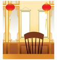 Asian Oriental Interior vector image vector image