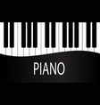 black and white piano keys background design vector image