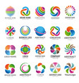 business globe logo advertising abstract round vector image