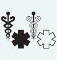 caduceus medical sign vector image