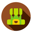 camping backpack circle icon vector image vector image