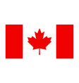 canada flag canadian leaf maple icon vector image vector image