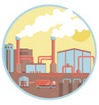chemical industrial pipes factory background vector image vector image