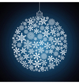 Christmas gift ball snowflake design background