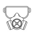 construction dust mask black and white vector image vector image