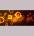 coronavirus covid19-19 or ncov outbreak banner vector image vector image