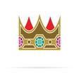 Crown icon4 vector image vector image