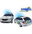 czech police car vector image vector image