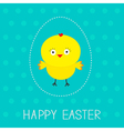 Easter chicken and dash egg Dot pattern Card vector image