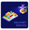express delivery service isometric banner template vector image vector image