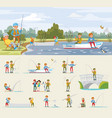 fishing activity concept vector image vector image