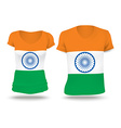 Flag shirt design of India vector image vector image