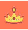 flat icon on stylish background crown royal vector image vector image