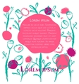 floral poster card vector image vector image