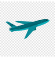 flying airplane icon flat style vector image vector image