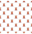 frog pattern seamless vector image