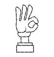 glova hand ok symbol cartoon vector image vector image