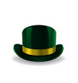 green leprechaun hat on white background st vector image vector image