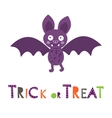 Halloween card with cute little bat vector image