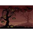 Halloween Pumpkin Tree Background vector image vector image
