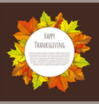 Happy thanksgiving day poster round frame leaves