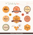 Honey bee labels vector image