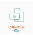 JS computer symbol vector image vector image