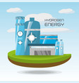 landscape related with hidrogen energy vector image vector image
