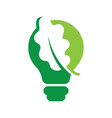 leaf inside light bulb ideas concept eps 10 vector image