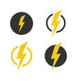 lightning icons set symbols set on white vector image vector image