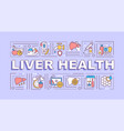 liver health word concepts banner vector image vector image