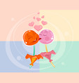 love between two lollipops vector image