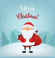 merry christmas greeting card christmas and new vector image