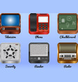 mobile android icons vector image vector image