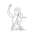 one single line drawing minimalist beauty vector image