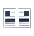 paper documents icon vector image vector image