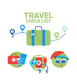 planning vacation suitcase with packing items vector image vector image