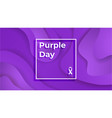 purple day epilepsy awareness epilepsy day march vector image vector image