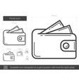 purse line icon vector image