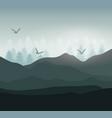 realistic mountain landscape design vector image vector image