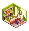 room renovation isometric vector image