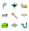 sanitary icons set cartoon style vector image